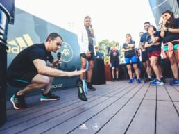 Espectáculo en el evento de Adidas Solarboost