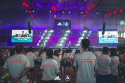 Escenario del evento Solarboost Adidas Runners