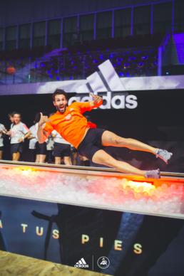 Javier Reig en el evento Adidas Runners Solarboost