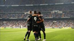 Jugadores del Leganés celebrando un gol