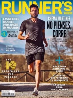 Portada de Chema Martínez para una revista deportiva