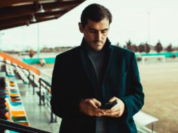 Iker Casillas con el movil