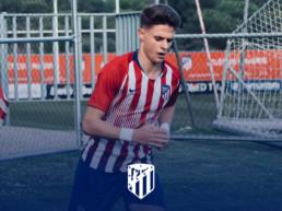 Nacho Quintana talent del Atlético de Madrid con balón