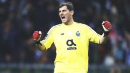 Iker Casillas celebrando una victoria